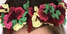 Crochet Hairpieces & Headbands | Hand-Crocheted Hairpieces, Headpieces, Hairbands, Headbands