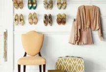 Clothes and shoe closet
