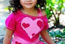 holiday-valentine kids clothes and accessories / by Penny Warner