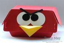Hamburger Box - Stampin' Up! / Stampin' Up! Hamburger Box inspiratie ideeën.