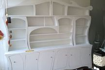Cabinets - clean and white /  Cottage and Shabby Chic style