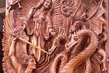 obras de talla / diferentes maderas nobles / by Majaguany Trading