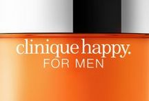 clinique happy FOR MEN / A unique refreshing scent ... HAPPINESS in every spray.