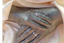 Castings / Painting in white, hand made castings of u and ur loved ones also wedding casts, death casts, body casts and more