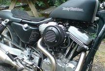 custom Harley Davidson Sportster rebuild / custom Harley Davidson Sportster rebuild through the years. This project that has no end. Custom Harley Davidson sportster with Buell engine #harleysportster #buell #customharley