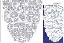 Crochet - салфетки - схемы