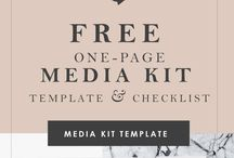 FREEBIES - FOR BLOGGERS / A collection of free printables, checklists, fonts, media kit templates, e-books and more.