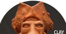 Clay Sculpture / Clay Sculpture Modeling Character Creature Handmade Sticks Tools Concept Art Concept Designer Artist México / Escultura Personaje Creatura Plastilina Modelado Tradicional Estiques Diseñador Artista Conceptual