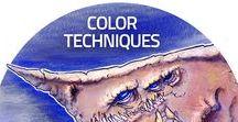 Color / MST Concept Art School® México / Concept Art México Color Techniques Visual Development Movies Films Videogames Textures Color Palette Light Shadow Watercolor Markers Ink Pastels / Técnicas de Color  Desarrollo Visual Películas Videojuegos  Texturas Paleta de Color Luz Sombra Acuarela Marcadores Tintas Colores Pasteles / MST Design School® México