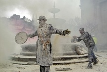 enfarinats / Revelers take part in the battle of Enfarinats in the town of Ibi in south-eastern Spain. For 200 years Ibi's citizens have celebrated El Dia de los Santos Inocentes with a battle using flour, eggs and firecrackers outside the town hall.