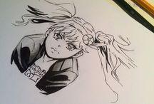 Zeichnungen von mir © / Zeichnungen Zeichnung Manga Bild malen