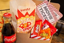 Vintage Movie Night Party Ideas / A collection of candy and decor ideas for your Vintage Movie Night Party!