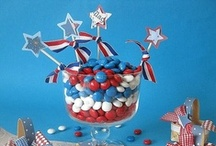 Patriotic Picnic Party Ideas / Party decor and candy buffet ideas for a Patriotic Picnic (Memorial Day, Fourth of July, Labor Day, President's Day, Veteran's Day, etc)