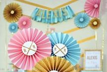 Glam Vintage Train Party / Little girl's birthday party from One Stylish Party featuring lots of gold glitter, pink, and teal! #tomboy #trains #vintage