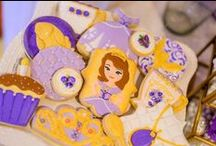 Sofia The First Royal Birthday Party / This glittery royal purple and gold tea party birthday is fit for a princess - Sofia the First to be exact!