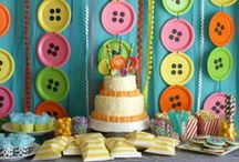 Dessert Table and Candy Buffet Backdrop Ideas / A cool backdrop can add just the right touch to make your dessert table or candy buffet stand out!