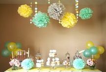 Mint and Yellow Event Color Palette and Candy Buffet / #Mint and #Yellow #Wedding #BridalShower #BabyShower #candybuffet, #CandyBar #spring wedding, #summer wedding