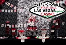 Las Vegas or Casino Themed Party / Candy Buffet, Dessert Table, Decor and Ideas for a Las Vegas or Casino Themed Party