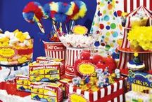 Circus Themed Party Ideas / Circus Party, Under the Big Top party, Kids Birthday Party Ideas, Gender Neutral Party Ideas, Baby Shower Ideas / by Sweet City Candy