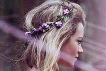 Festival-worthy hair / Flower crowns, braids, and styles that will make a statement at any music festival.