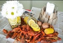 Crawfish Boil Stock the Bar Shower / #CrawfishBoil #StocktheBar #NontraditionalWedding This event is from Angela Marie Events.