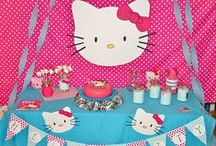Hello Kitty Party Ideas / Party and candy buffet ideas for a Hello Kitty themed birthday party