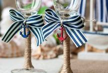 Nautical Themed Party Ideas / Nautical Themed Party Ideas, Navy White and Gold Party Palette, Sailor Party / by Sweet City Candy