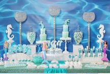 Mermaid Themed Party Ideas / Mermaid Themed Parties, #SoireeEventDesign, #Mermaid, Girls Birthday Party Ideas, Mermaid Barbie