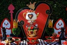 Queen of Hearts Themed Party Ideas / Alice in Wonderland Party, Queen of Hearts Party, Adult Birthday Party, Bachelorette Party,