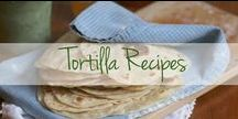 Tortilla Recipes / #CrunchTime! Grab the flour and make your own chips, flatbreads, and wraps.