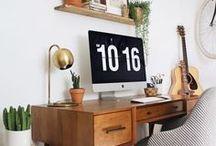 • TRAVAIL • / Espace de travail | Bureaux | Pièce pour travailler | Desk | Work | Office | Création | Projet | Entreprendre | Working |