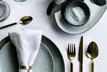 Jolies tables / L'endroit où l'on mange est aussi important que ce l'on mange.