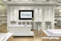 Immerse - St. Louis, MO / Nehring Design worked with Atlas Plumbing Supply to create a boutique plumbing showroom in Brentwood, Missouri.  Product mobility to transform the showroom into an event space and flexibility to change out products throughout the year were key components of the design.