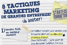 Stratège Marketing / Marketing direct, marketing digital, marketing produit et neuromarketing. C'est le tableau du site http://www.StrategeMarketing.com