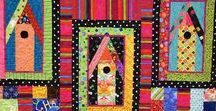 House Quilt Ideas / Quilts that feature houses and buildings, and artworks that would inspire an amazing house quilt.