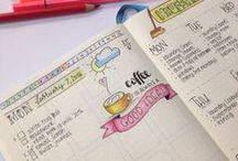 BULLET JOURNAL / All about bullet journaling. Inspiration. Daily Spreads. Weekly Spreads. Doodles.