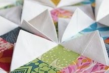Texture and Embellishment Ideas for Quilts / Ideas and techniques that add texture to quilts. Add texture through fabric manipulation, fabric folding, origami, surface design, embellishments, buttons, jewellery, stitchery, painting, quilting... the options are endless and all great fun! Let me know which textures you like at www.cleverchameleon.com.au!