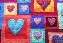 Heart Quilt Ideas / Quilts with heart motifs. Make someone feel loved today or celebrate all the love in your life!