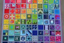 Sampler Quilts / Quilts that are made up of lots of different blocks. Tula Pink City, Gypsy Wife, Dear Jane and other designs.
