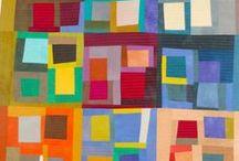 Improv Quilts / Improvised piecing modern quilts, improv quilt ideas.