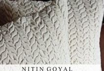 Nitin Goyal @ Pomegranate / Nitin Goyal is a London-based textile designer who specializes in making gorgeous hand made and highly textured cushions & throws. All his pieces are designed by him and made in India. http://www.pomegranate-living.com/brands-nitin-goyal.irc