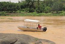 Barques en aluminium soudées / Barques en aluminium soudée  Pêche Chasse Loisirs d'eau Barque à fond plat Barque de pêche