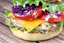 Burgers to temp the taste buds / Yummy Juicy Tasty Burgers