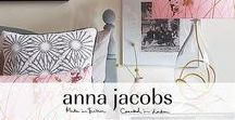 Anna Jacobs @ Pomegranate / Amazing lamps & cushions from this talented London-based artist and designer, teacher and upcycler. All her products are handmade in the UK by expert craftspeople. Shop for her collection here https://www.pomegranate-living.com/collections/anna-jacobs