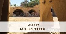 Fayoum Pottery School @ Pomegranate Living / The Fayoum Pottery School was set up in the 1980s by a Swiss potter in a small village on the shores of Lake Qaroum. Located in the Fayoum oasis, a couple of hours south-west of Cairo, it's a creative place where students learn the art of throwing pottery and creating a beautiful range of tableware and accessories. You can see our full collection here https://www.pomegranate-living.com/collections/fayoum-pottery-school