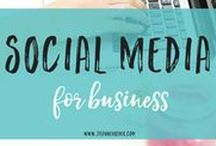 Social Media for Business / Infographics and blog posts on how to use social media for your business