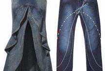 Återbruk kläder / Modevisning, kläder, designa om