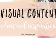 Visual Content Ideas and Inspiration / Images and graphics are hot on social media right now. Get inspiration and ideas for your visual content marketing strategy.