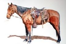 Chris Chantland's Equine Paintings. / Paintings of horses - oils, acrylics, graphite and watercolor