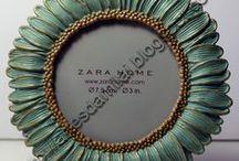Peças Zara Home decoradas / Os meus trabalhos